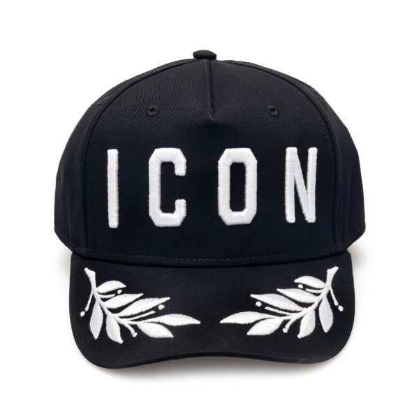 Black baseball cap with embroidery                                                                                                                    Dsquared2 BCM0159 back