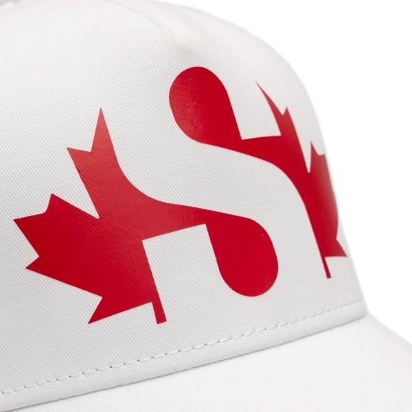 Cappello da baseball bianco con stampa logo                                                                                                            DSQUARED2                                          DSQUARED2