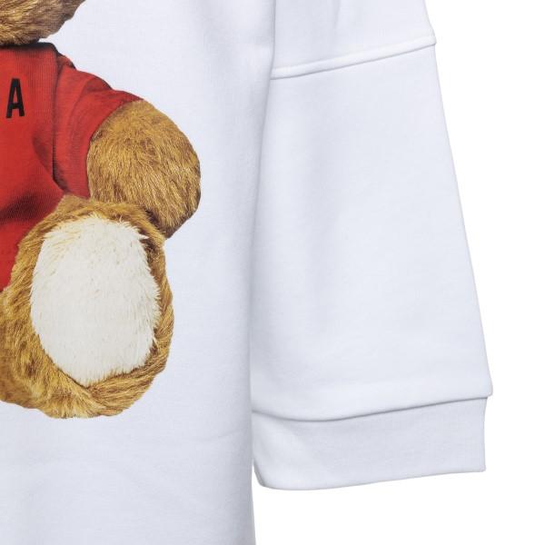 Short white sweatshirt dress with teddy bear                                                                                                           MOSCHINO