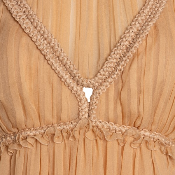 Long pink dress with rope details                                                                                                                      ALBERTA FERRETTI