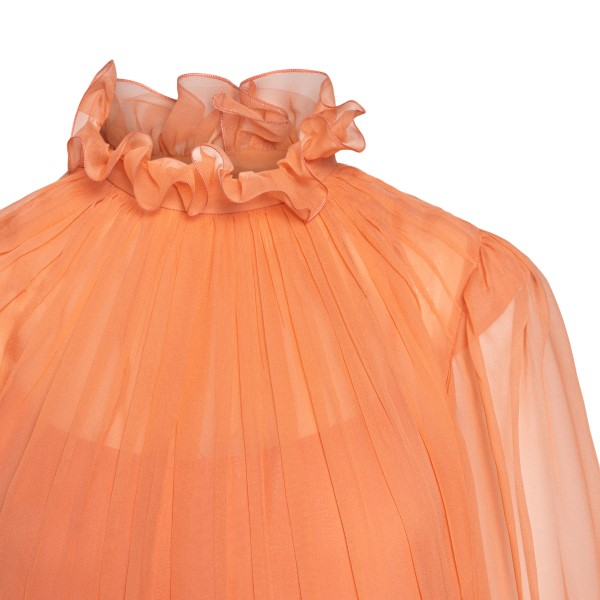 Long semi-transparent peach dress                                                                                                                      ALBERTA FERRETTI