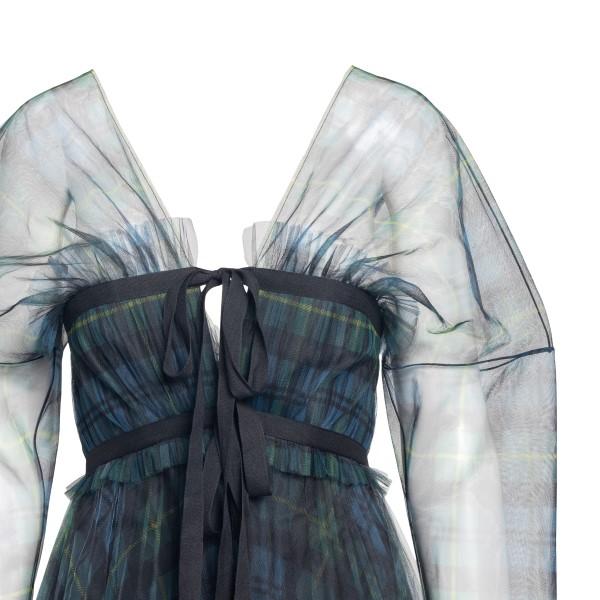 Long semitransparent checked dress                                                                                                                     PHILOSOPHY
