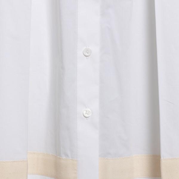 White midi dress with pink details                                                                                                                     MOSCHINO