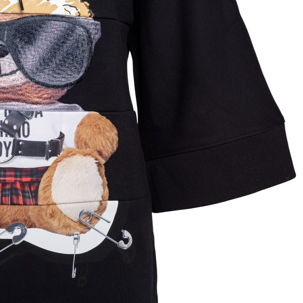 Short black sweatshirt dress with teddy bear                                                                                                           MOSCHINO