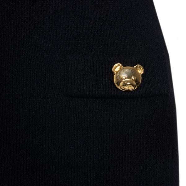 Abito corto con orsetti in metallo dorato                                                                                                              MOSCHINO MOSCHINO