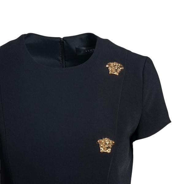 Short black dress with Medusa applications                                                                                                             VERSACE