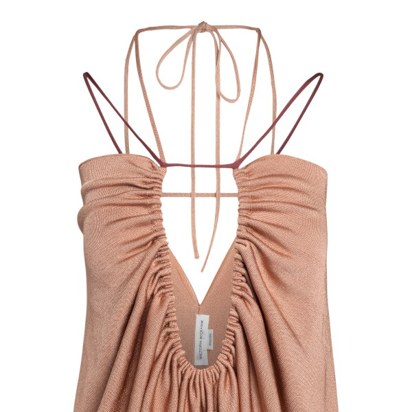 Long pink dress with front hollow                                                                                                                      VICTORIA BECKHAM