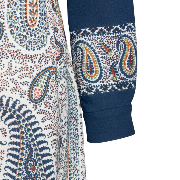Long blue dress with paisley print                                                                                                                     ETRO