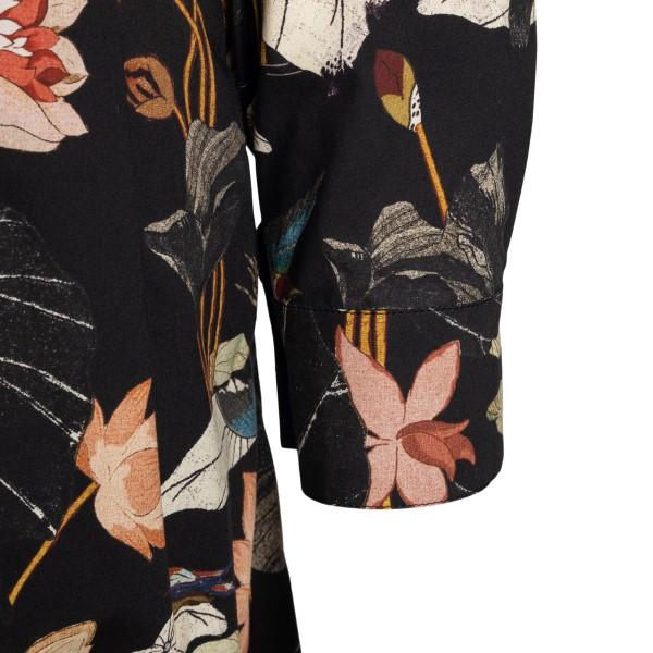Black midi dress with floral pattern                                                                                                                   ETRO