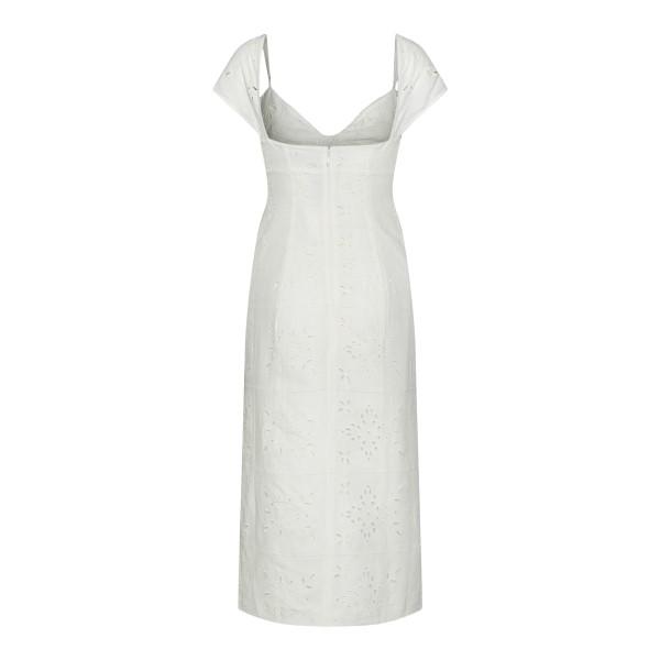 Ecru midi dress with embroidery                                                                                                                        JACQUEMUS