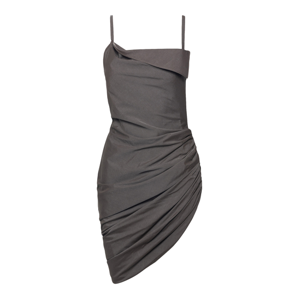 Short brown dress with curl                                                                                                                           Jacquemus 213DR16 back