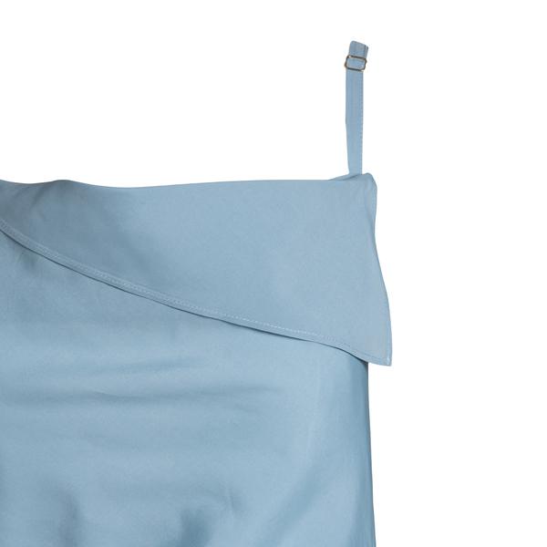 Short blue asymmetrical dress                                                                                                                          JACQUEMUS