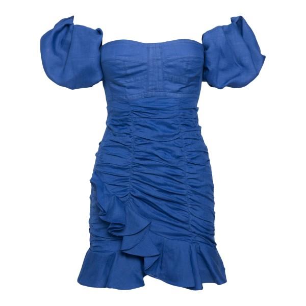 Short blue dress with curls                                                                                                                           Isabel Marant RO1958 back