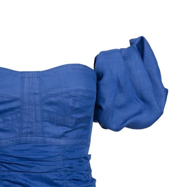 Abito corto blu con arricciature                                                                                                                       ISABEL MARANT                                      ISABEL MARANT