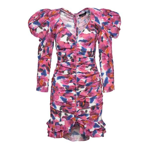Short fuchsia flower dress                                                                                                                            Isabel Marant RO1944 back