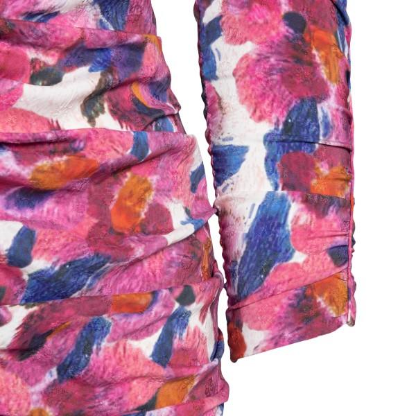 Short fuchsia flower dress                                                                                                                             ISABEL MARANT