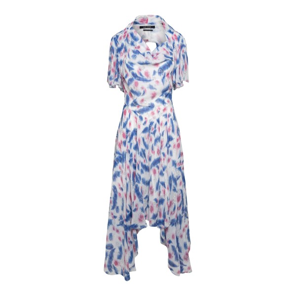 White midi dress with pattern and drapery                                                                                                             Isabel Marant RO1990 back