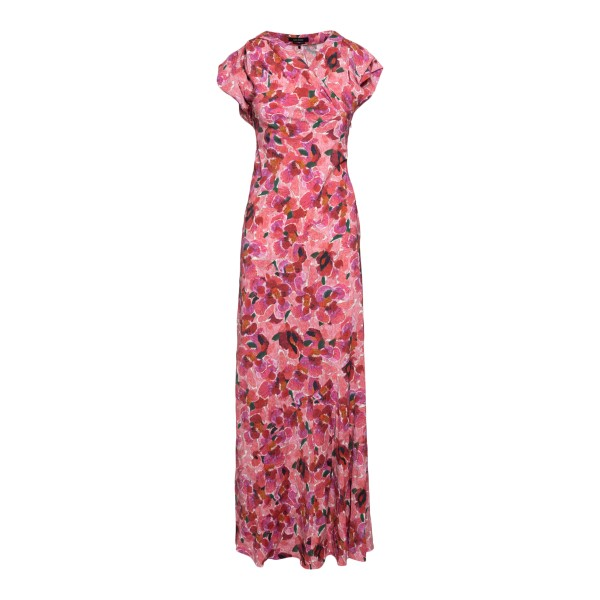 Long pink patterned dress                                                                                                                             Isabel Marant RO1941 back