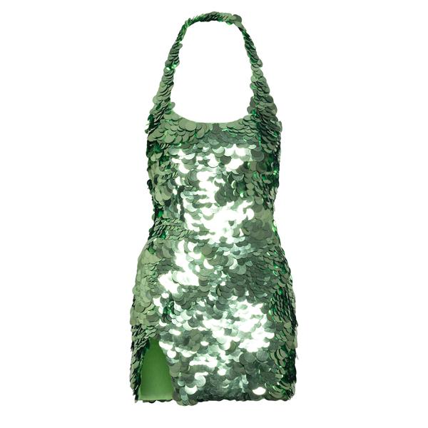 Short green sequin dress                                                                                                                               THE ATTICO SUPERATTICO