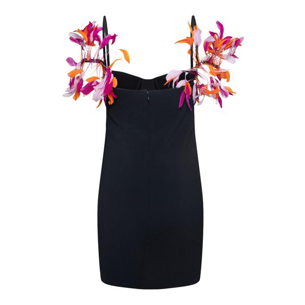 Short black dress with multicolored feathers                                                                                                           THE ATTICO SUPERATTICO
