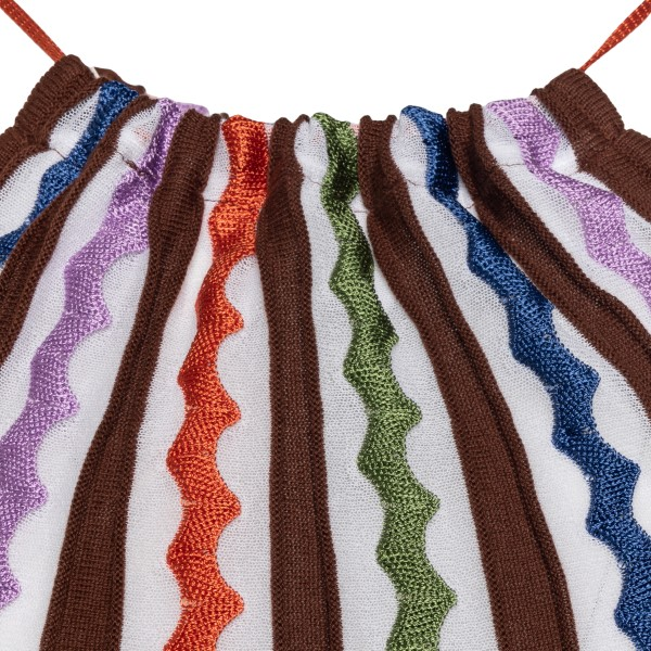 Long dress with multicolored embroidery                                                                                                                M MISSONI
