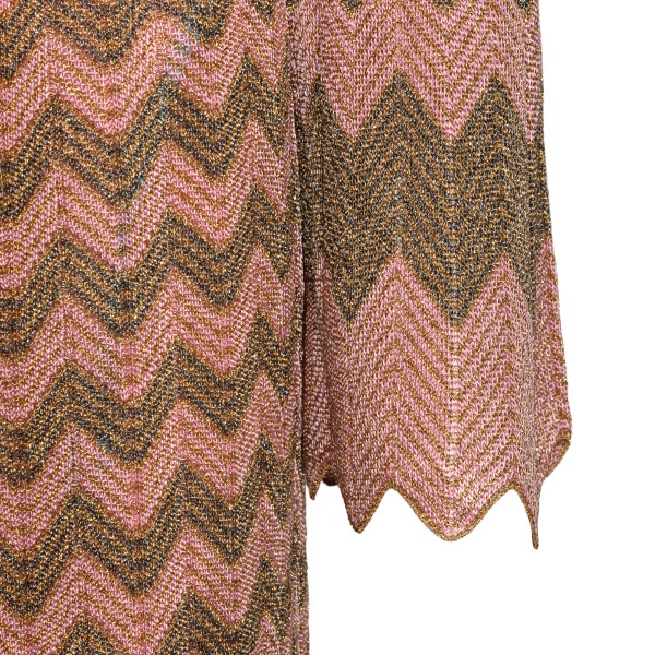 Long pink and gold dress                                                                                                                               M MISSONI