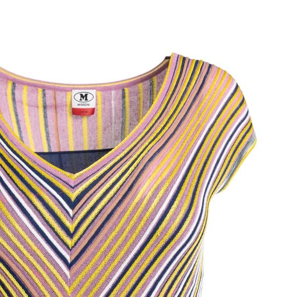 Long multicolored striped dress                                                                                                                        M MISSONI