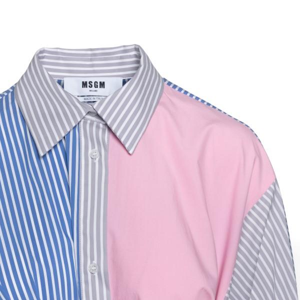 Multicolored striped shirt dress                                                                                                                       MSGM