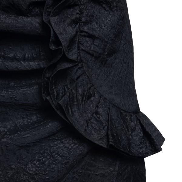 Abito corto nero con drappeggio                                                                                                                        MSGM                                               MSGM