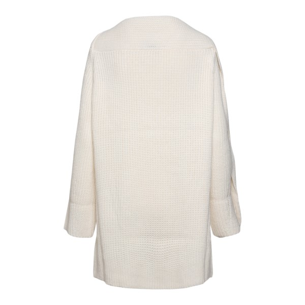 Long white sweater with slit                                                                                                                           MSGM