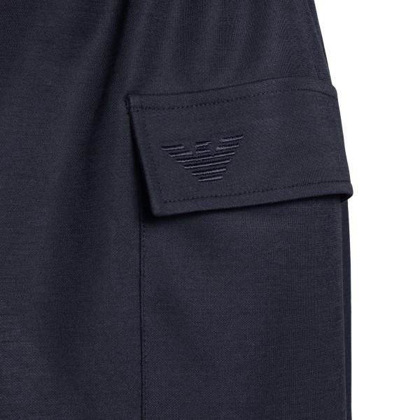 Navy blue midi dress with drawstring                                                                                                                   EMPORIO ARMANI