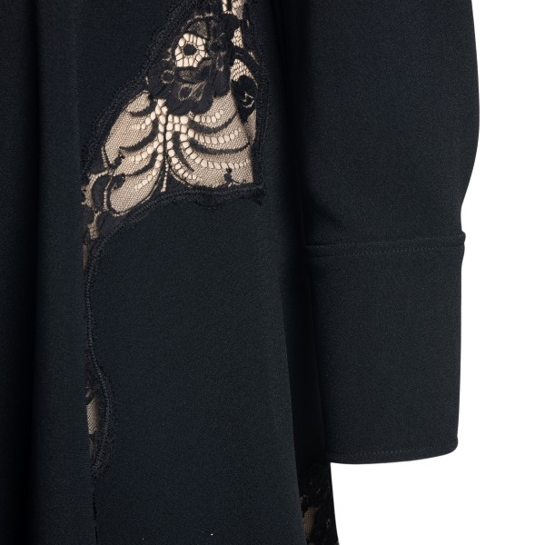 Short black dress with lace                                                                                                                            STELLA MCCARTNEY