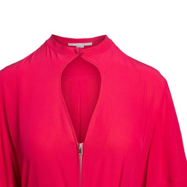 Abito midi rosso con zip                                                                                                                               STELLA MCCARTNEY STELLA MCCARTNEY