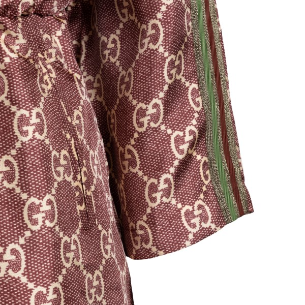Short brown dress with logo pattern                                                                                                                    GUCCI