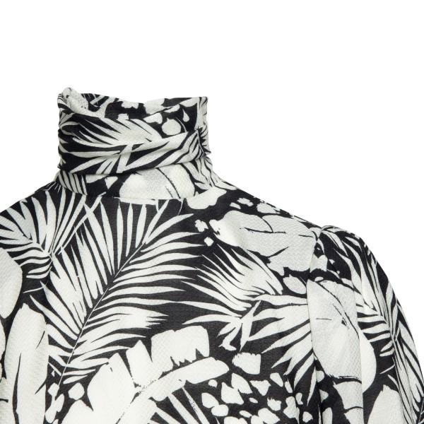 Short black dress with patterned print                                                                                                                 SAINT LAURENT