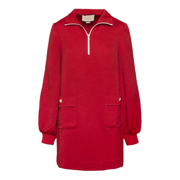 Short red dress with zip                                                                                                                               GUCCI