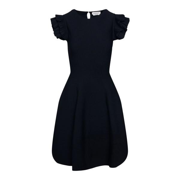 Short black dress with ruffles                                                                                                                         ALEXANDER MCQUEEN