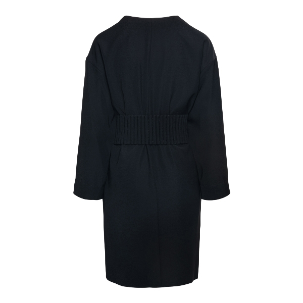 Short black dress with buttons at the waist                                                                                                            EMPORIO ARMANI