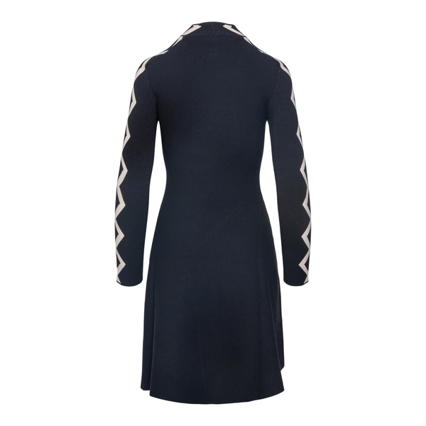 Short black dress with geometric details                                                                                                               EMPORIO ARMANI