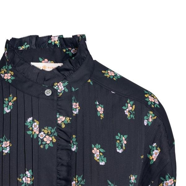 Abito nero con stampa floreale e cintura                                                                                                               TORY BURCH TORY BURCH