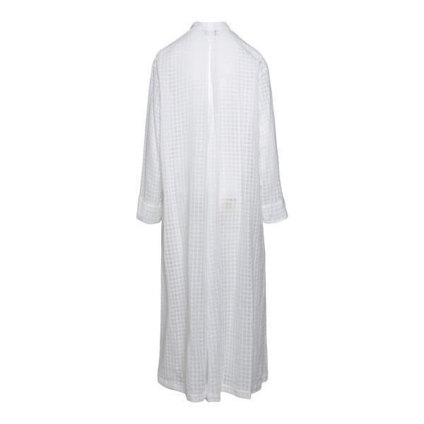 Kimono lungo bianco a quadretti                                                                                                                        FORTE FORTE                                        FORTE FORTE