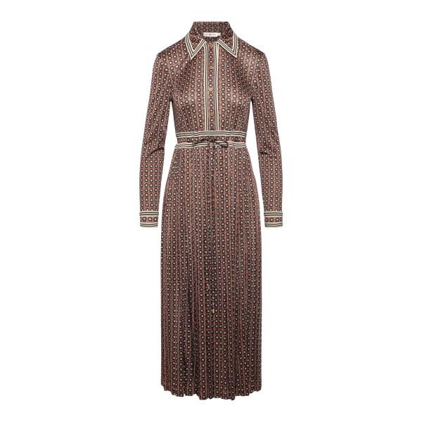 Long burgundy shirt dress                                                                                                                              TORY BURCH