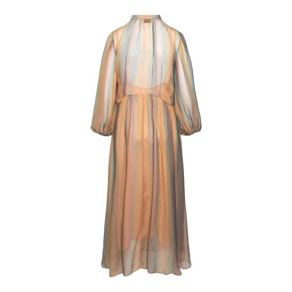 Long semitransparent striped dress                                                                                                                     FORTE FORTE