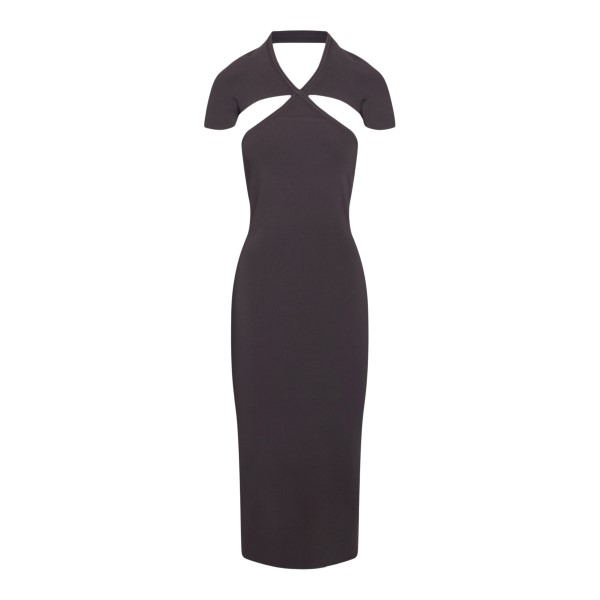 Black midi dress with cutouts                                                                                                                         Khaite 8595400 back