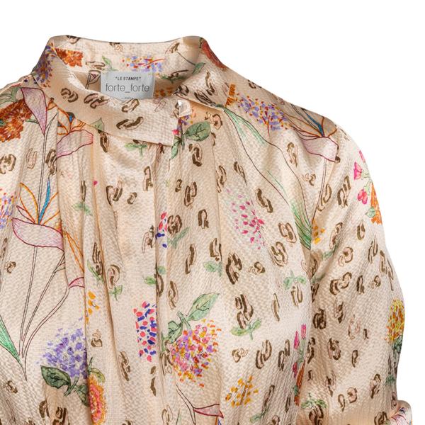 Beige floral dress                                                                                                                                     FORTE FORTE