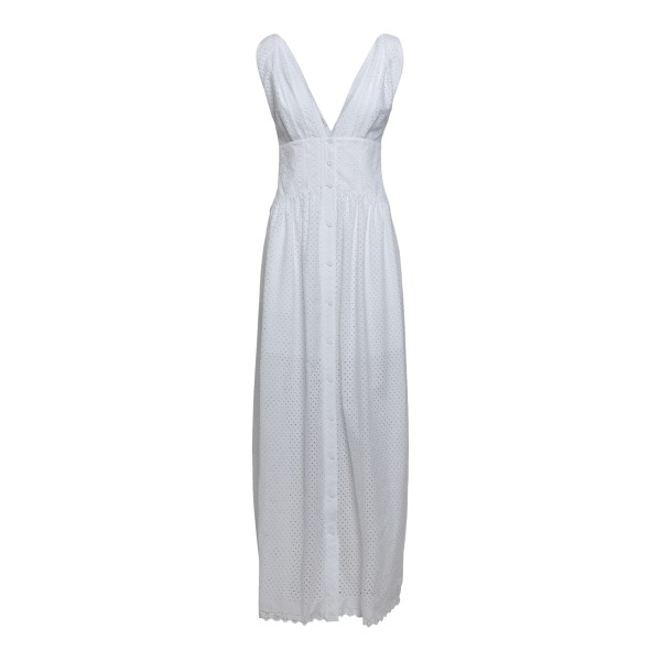 Long white dress with embroidery                                                                                                                       PHILOSOPHY