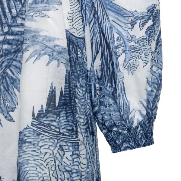 Long blue patterned dress                                                                                                                              F.R.S.