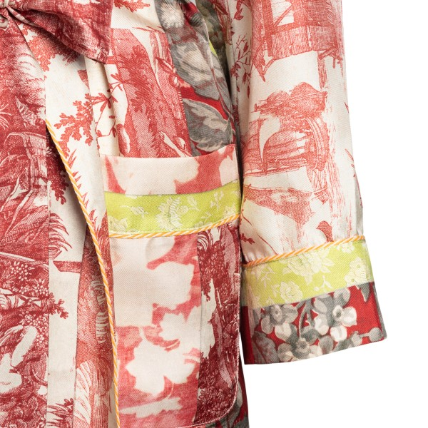 Long multicolour patterned jacket                                                                                                                      PIERRE LOUIS MASCIA
