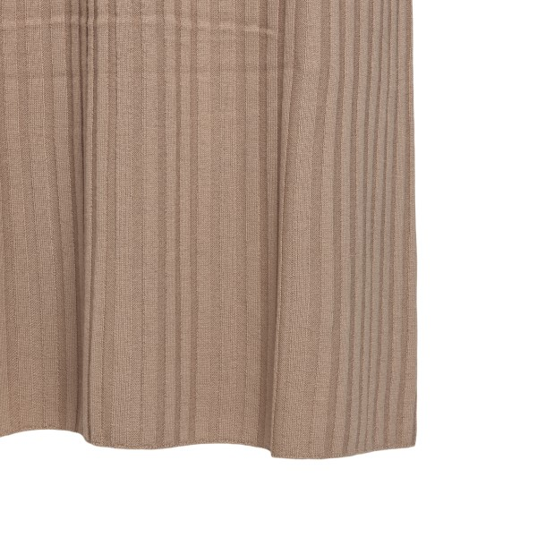 Long hazelnut-colored ribbed dress                                                                                                                     LOULOU STUDIO