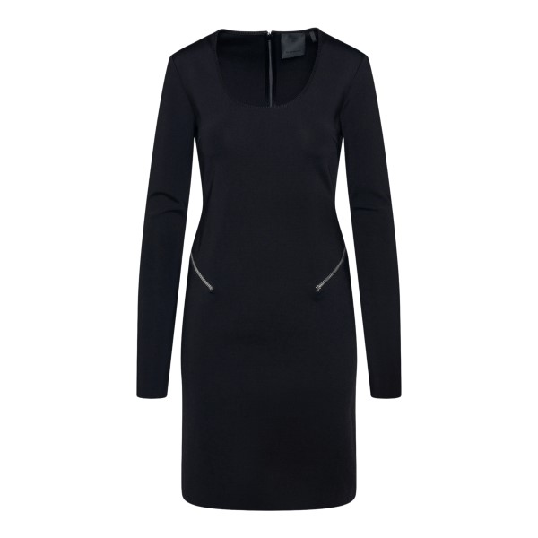 Short black dress with zip at the waist                                                                                                                GIVENCHY
